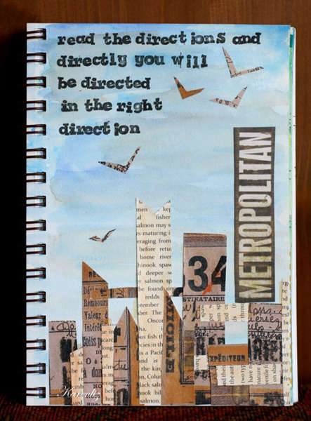 Art Journal Page:  Collage City