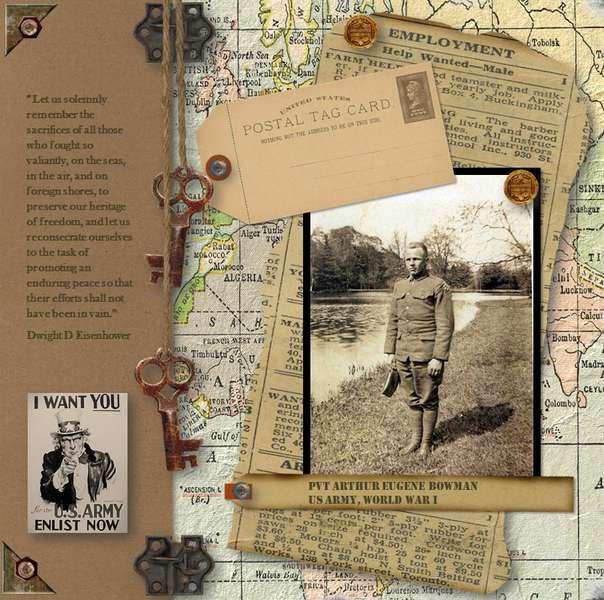 Great Grandpa WWI page 1