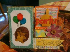 side step birthday card
