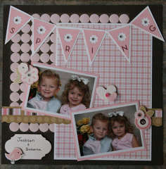 Xyron and American Crafts Pebbles layout