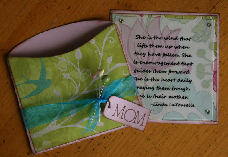Colorbok and Xyron Mother's Day card