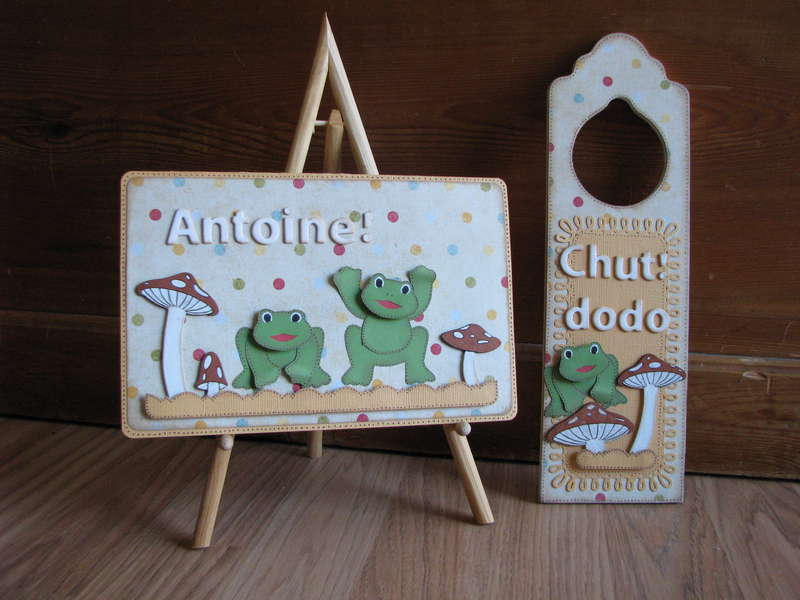 Baby card and door hanger