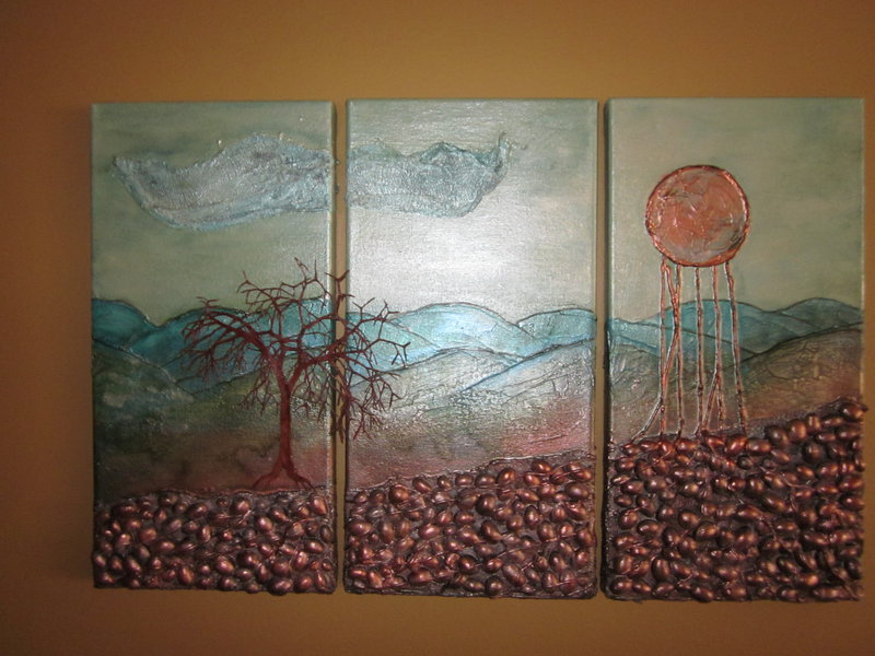 Under the weeping moon 2 mixed media canvas