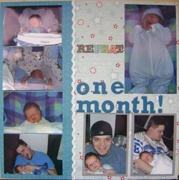 one month-right page