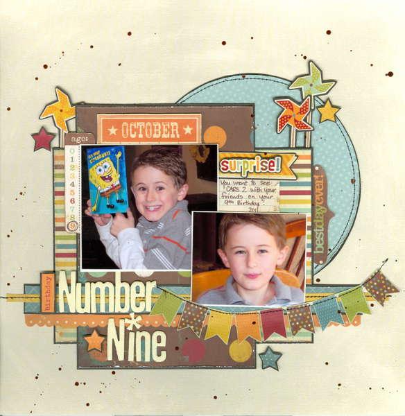 Birthday number nine