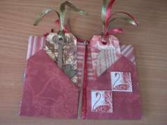 Valentine folded journal inside w/tags and inchies
