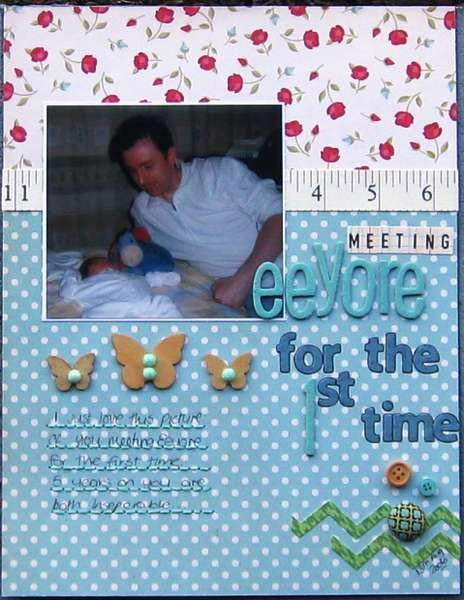Meeting Eeyore for the first time