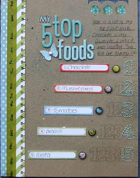 My top 5 foods