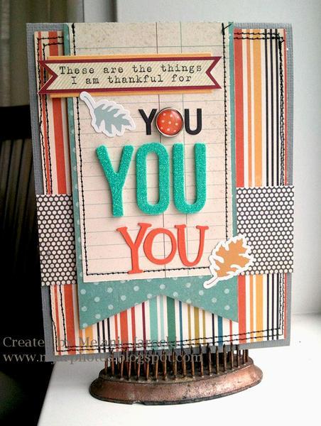 HIP KIT CLUB - October 2012 Kit - Thankful Card