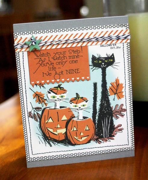 *HIP KIT CLUB - October 2012 Kit*  Black Cat Card