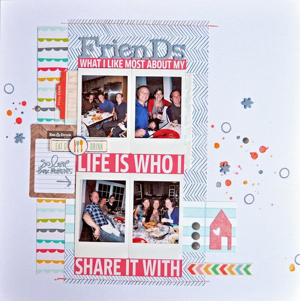HIP KIT CLUB - December 2012 Kit - Friends Layout