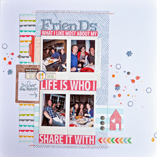 HIP KIT CLUB - December 2012 Kit - Friends Layout