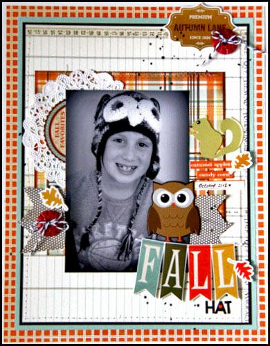 HIP KIT CLUB - October 2012 Kit - Fall Hat Layout