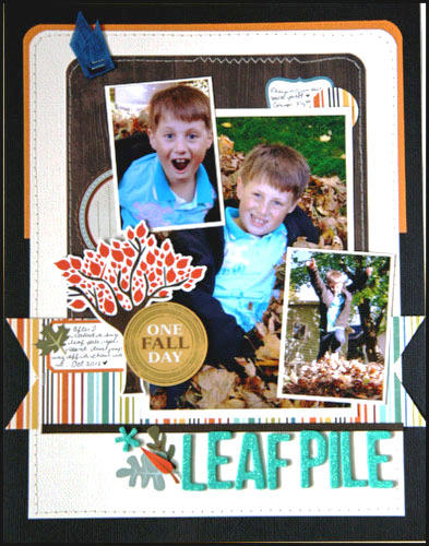 HIP KIT CLUB - October 2012 Kit - Leaf Pile Layout