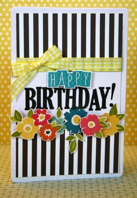 HIP KIT CLUB August 2012 - Happy Birthday Card