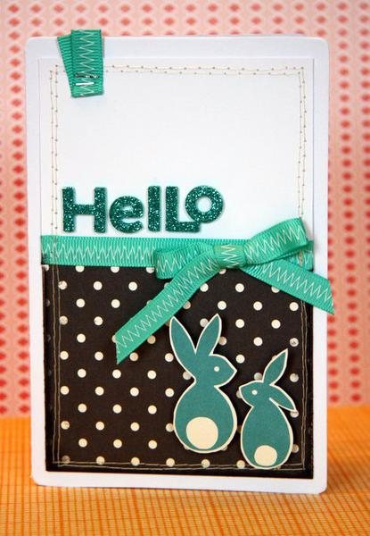 HIP KIT CLUB  August 2012 - Hello Card