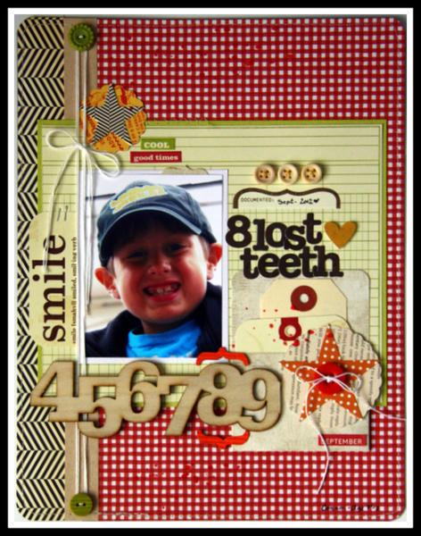 HIP KIT CLUB - September 2012 Kit - 8 Teeth Layout