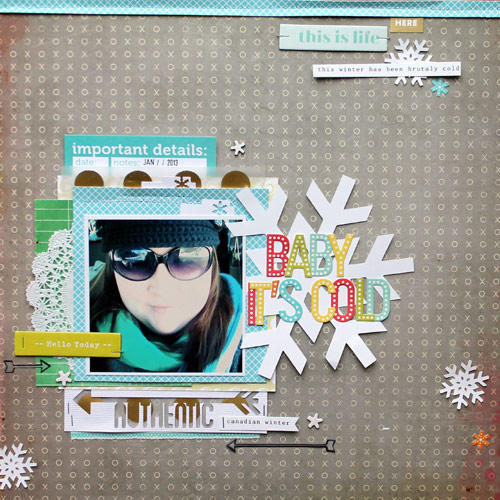 HIP KIT CLUB - January 2013 Kit - Baby Its Cold Layout