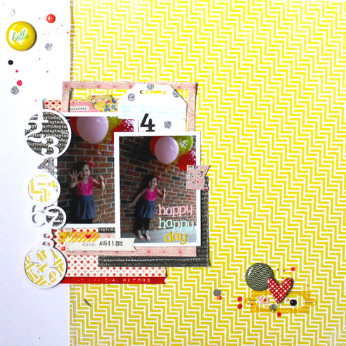 *HIP KIT CLUB - JUNE 2013 KIT* Happy Day Layout