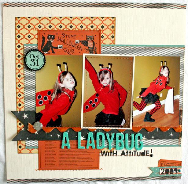 HIP KIT CLUB - October 2012 Kit - Ladybug Layout