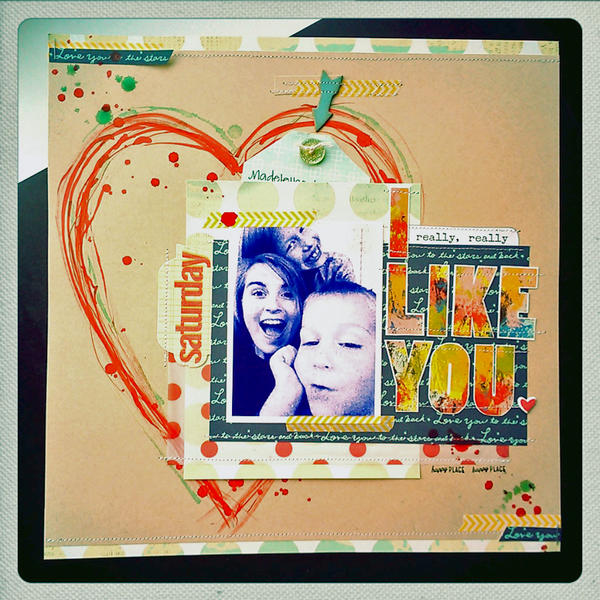 *HIP KIT CLUB - February 2013 Kit* I Like You Layout