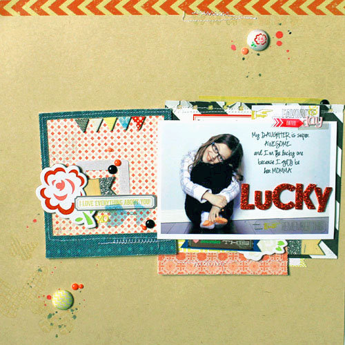 *HIP KIT CLUB - JUNE 2013 KIT* Lucky Layout