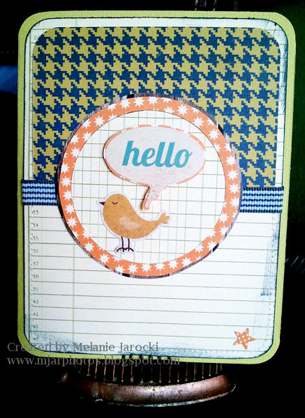 HIP KIT CLUB - September 2012 Kit - Hello Bird Card