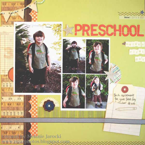 HIP KIT CLUB - September 2012 kit - Preschool Layout
