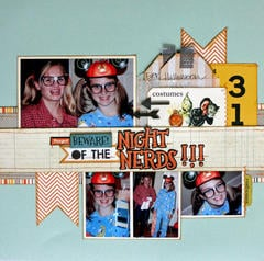 HIP KIT CLUB - October 2012 Kit - Night Nerds Layout