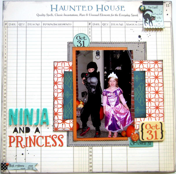 HIP KIT CLUB - October 2012 Kit - Ninja & Princess Layout