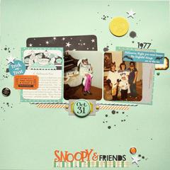 HIP KIT CLUB - October 2012 Kit - Snoopy Layout