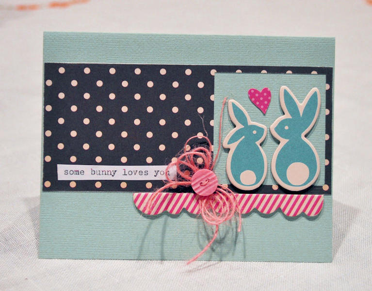 Hip Kit Club August 2012 - Some Bunny Card