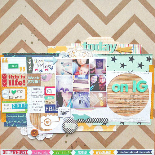 *HIP KIT CLUB - February 2013 Kit* Today Layout