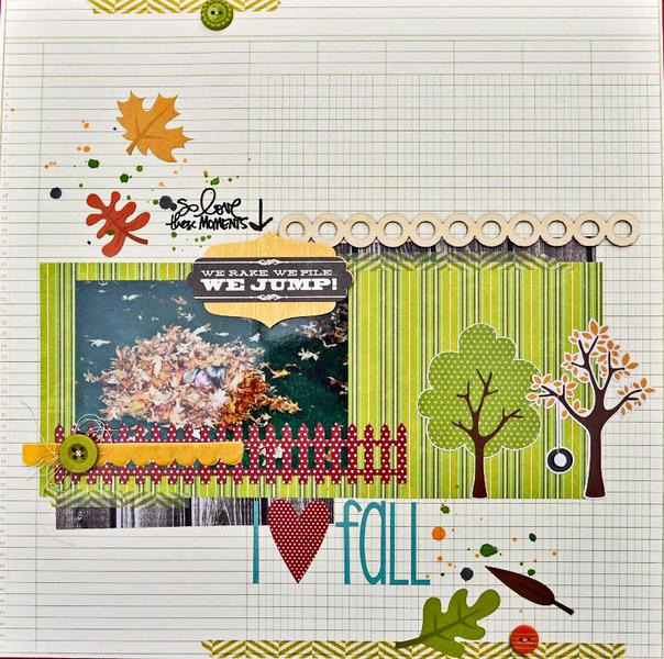 HIP KIT CLUB - September 2012 Kit - I Love Fall Layout
