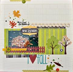 HIP KIT CLUB - September 2012 Kit - I Love Fall Layout