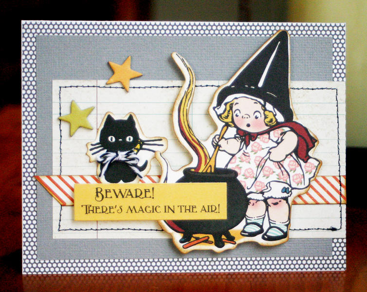 *HIP KIT CLUB - October 2012 Kit*  Witch Card