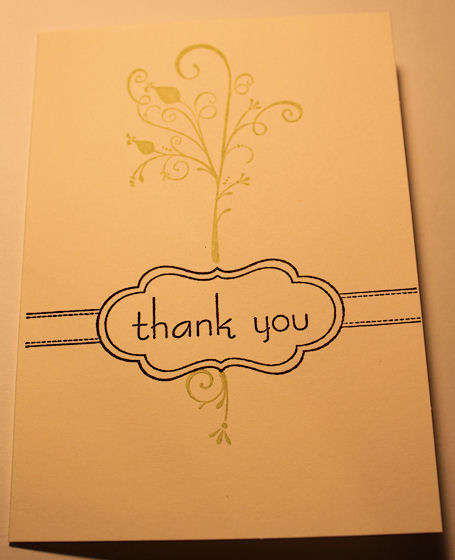 Thank you stamped card