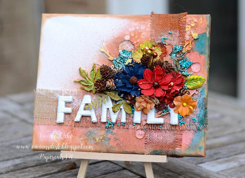 FAMILY: Mixed Media Canvas
