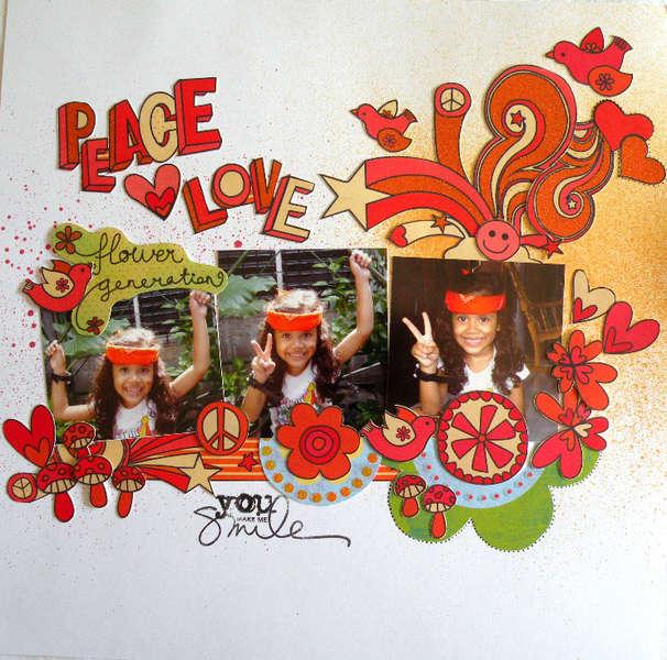 Peace, love: flower generation