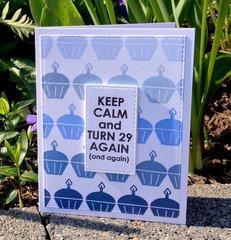 Keep Calm - Ombre Blue