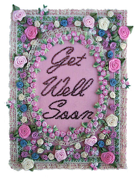 Lace, Roses & Rhinestone Get Well