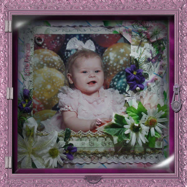 Pretty in Pink Traditional Shadowbox..