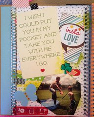 Smash book for hubby