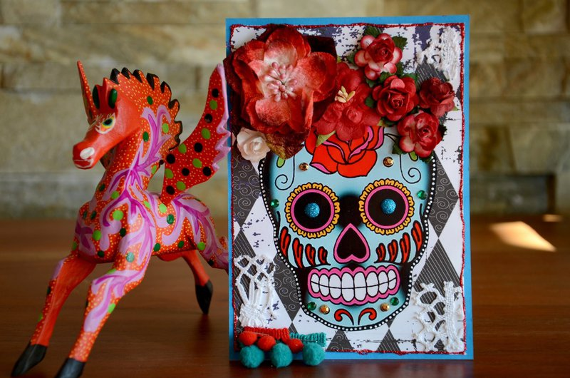 "Card ""Candy Skull"""