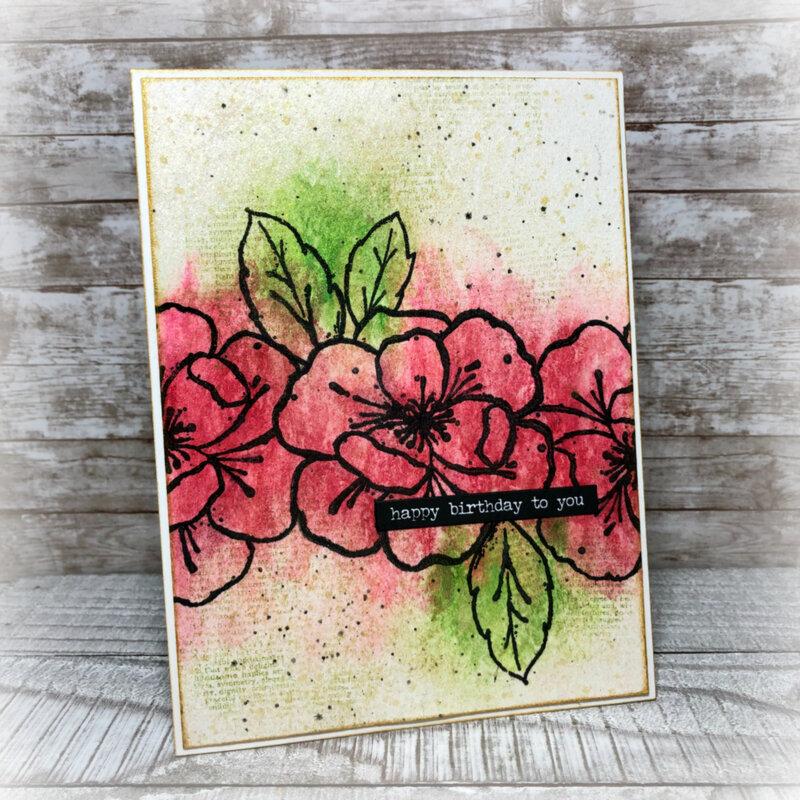 Happy Birthday - Sketchy Rose