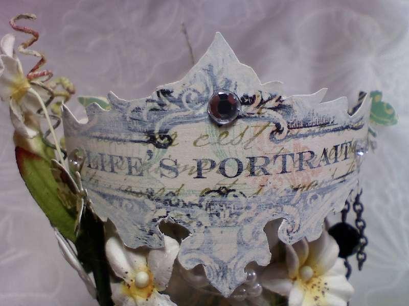 """Life's Portrait"" Altered spool"