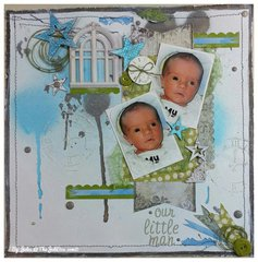 """""""Our Little Man"""" 12x12 LO"""
