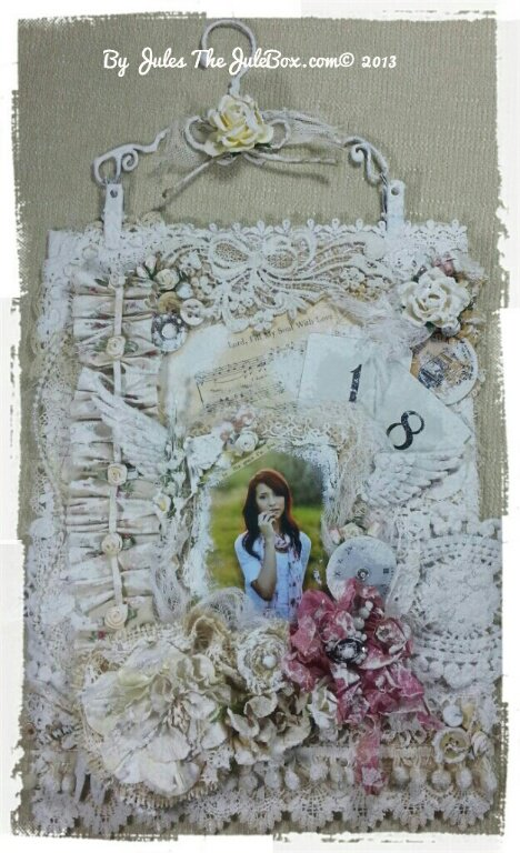"""""""18"""" Doily and Lace collage!"""