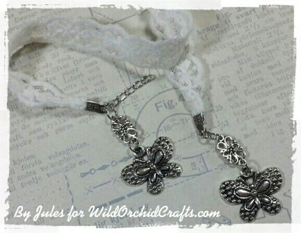 Lace and charm bookmark!