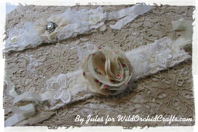 Shabby Chic lace cuff bracelets!